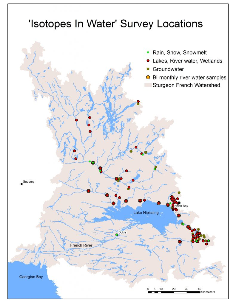 Isotopes In Water Survey Locations